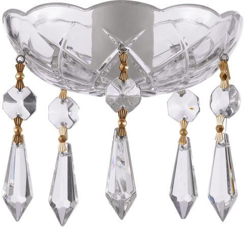 Clear Crystal Bobeche with 38mm Icicle Crystals for Chandeliers - ChandelierDesign