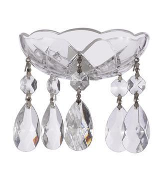 Clear Crystal Bobeche with 50mm Teardrop Crystals for Chandeliers Asfour Lead Crystal - ChandelierDesign