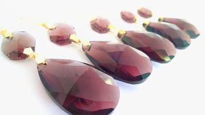 Burgundy Purple 38mm Teardrop Chandelier Crystal Ornaments - ChandelierDesign