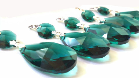 caribbean green chandelier crystal teardrop prisms