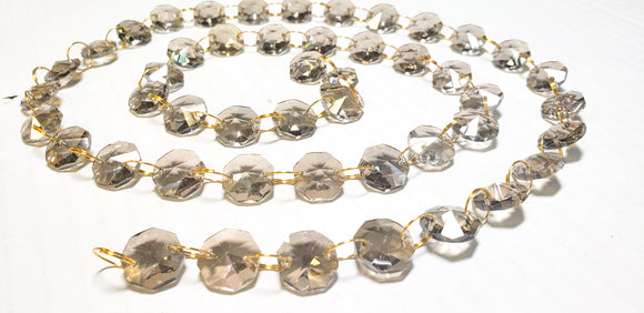 Champagne Yard Chandelier Crystals Garland - Ring Connectors - ChandelierDesign