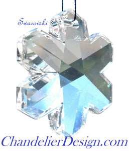 Swarovski Snowflake Chandelier Crystals, Clear 25mm Lead Crystal Snowflakes - ChandelierDesign