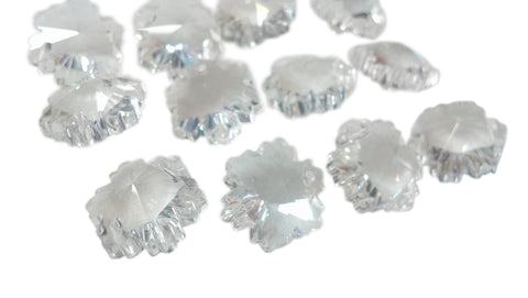 14mm Clear Snowflake Chandelier Crystal Prisms Beads - ChandelierDesign