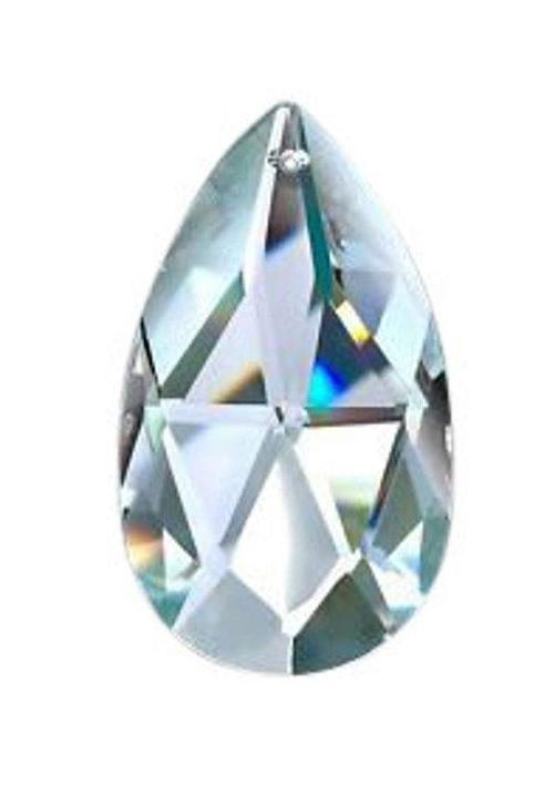 Clear Teardrop Chandelier Crystals, Asfour Lead Crystal #872, Pack of 5