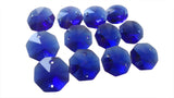 Cobalt Blue 14mm Octagon Beads Chandelier Crystals 2 Holes - ChandelierDesign