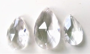 3pc Clear Teardrop Chandelier Crystals, Set For Princess Crown - ChandelierDesign