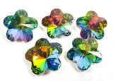 Vitrail Rainbow Flower Beads 30mm Chandelier Crystals, Pack of 5 - ChandelierDesign