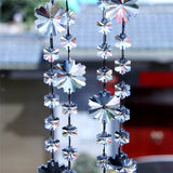 Clear Crystal Snowflake Garland, Chandelier Crystals Chains - ChandelierDesign
