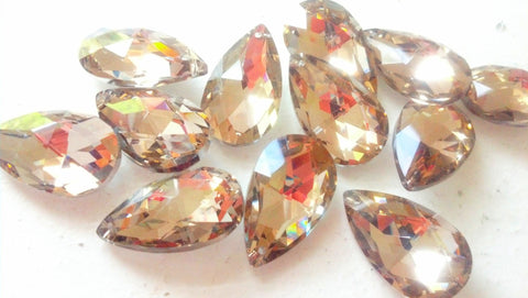 5 Metallic Gold 38mm Teardrop Foiled Chandelier Crystals - ChandelierDesign