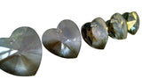 Gray Heart Chandelier Crystals Prisms 28mm Grey - ChandelierDesign