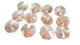 14mm Light Honey Chandelier Crystal Octagon Prisms 2 Hole Beads - ChandelierDesign