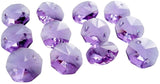 Lilac 14mm Octagon Beads Chandelier Crystals 2 Holes - ChandelierDesign
