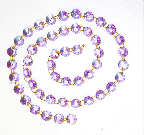 Lilac Yard Chandelier Crystals Garland - Ring Connectors - ChandelierDesign
