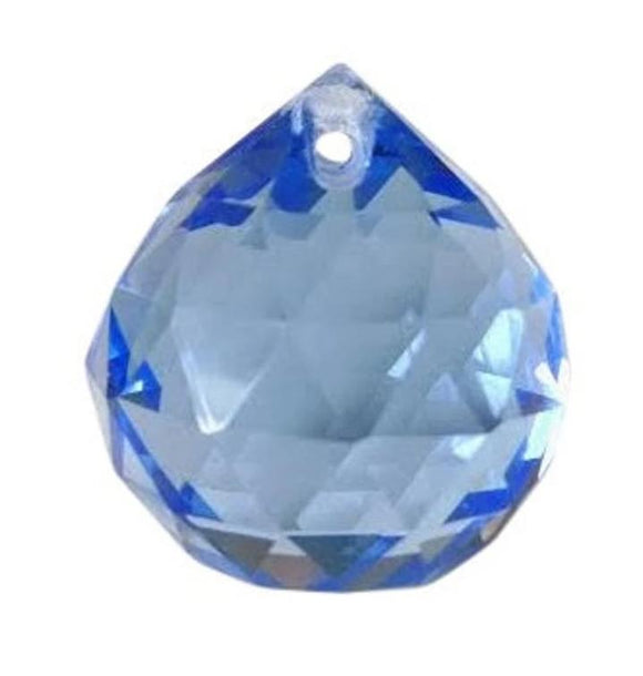 Light Sapphire Blue Chandelier Crystal Faceted Ball Prism - ChandelierDesign