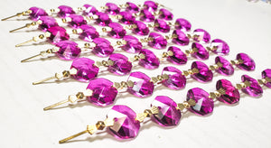 Magenta Chandelier Crystal Garland Yard of Prisms - ChandelierDesign
