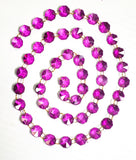 Magenta Yard Chandelier Crystals Garland - Ring Connectors - ChandelierDesign