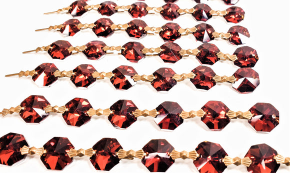 Metallic Dark Amber Chandelier Crystal Garland Yard of Prisms - ChandelierDesign
