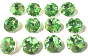 Metallic Spring 14mm Octagon Beads, Chandelier Crystals 2 Holes - ChandelierDesign