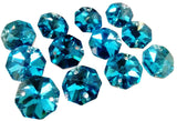 Metallic Aquamarine 14mm Octagon Beads Chandelier Crystals 2 Holes - ChandelierDesign