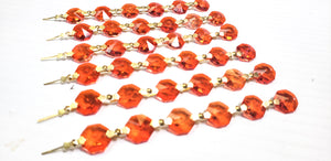 Orange Chandelier Crystals Garland Yard of Prisms - ChandelierDesign