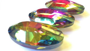 Vitrail Rainbow Oval Chandelier Crystals, Multicolor 50mm Pack of 3 - ChandelierDesign