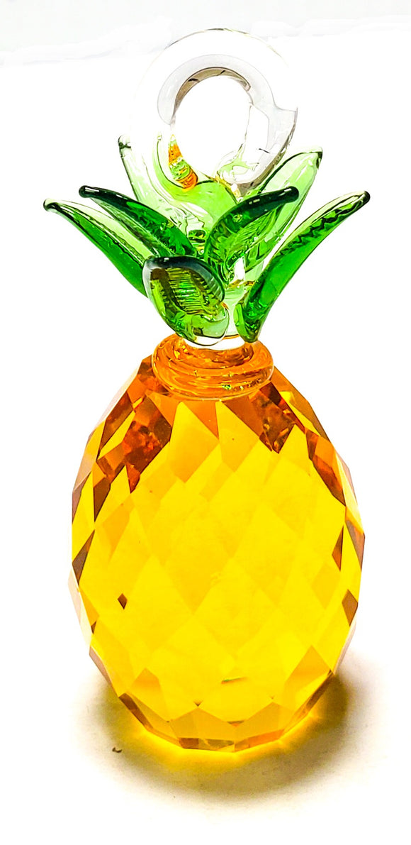 Murano Style Glass Pineapple for Chandeliers, Fruit Ornaments - ChandelierDesign