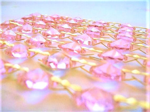 Pink Chandelier Crystal Garland Yard of Prisms - ChandelierDesign