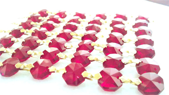 Dark Red Chandelier Crystal Garland Yard of Prisms - ChandelierDesign