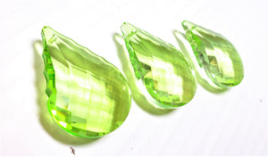 Spring Green Round French Cut Chandelier Crystals, 50mm Pack of 5 - ChandelierDesign