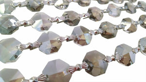 Satin Grey Chandelier Crystal Garland Yard of Prisms - Asfour Lead Crystal - ChandelierDesign