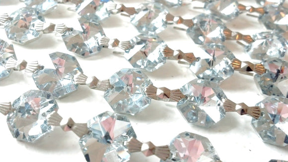 Silver Chandelier Crystal Garland Yard of Prisms - ChandelierDesign