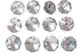 Metallic Silver 14mm Octagon Beads Chandelier Crystals 2 Holes - ChandelierDesign
