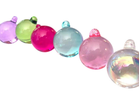 6 Smooth Chandelier Crystals Ball Prisms Fuchsia, Pink, Aqua, Spring Green, Lilac, AB - ChandelierDesign