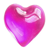 Smooth Heart Chandelier Crystals Prisms 35mm Fuchsia