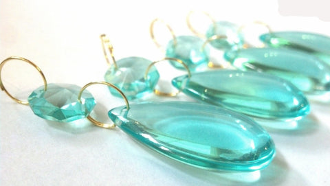 smooth teardrop crystals light aqua