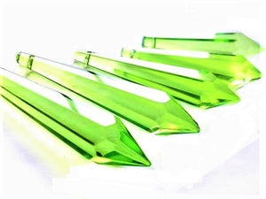 Spring Green Icicle Chandelier Crystals, Pack of 5 Pendants - ChandelierDesign