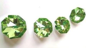 Metallic Spring Green Octagon Beads 30mm Chandelier Crystals, Pack of 5 - ChandelierDesign