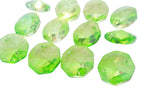 Spring Green 14mm Octagon Beads Chandelier Crystals 2 Holes - ChandelierDesign