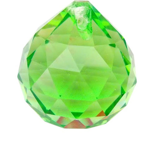 30mm Spring Green Chandelier Crystal Faceted Ball Prism - ChandelierDesign