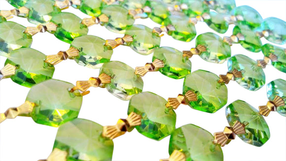 Spring Green Chandelier Crystal Garland Yard of Prisms - ChandelierDesign