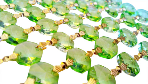1 Yard Spring Green Chandelier Crystal Garland Yards