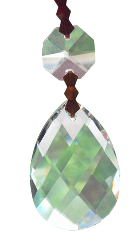 a set of high quality lead crystal teardrop chandelier prisms