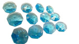 Aquamarine 14mm Octagon Beads Chandelier Crystals 2 Holes - ChandelierDesign