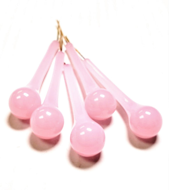 Opaline Pink 76mm Vintage Raindrop Chandelier Crystals, Pack of 5 - ChandelierDesign