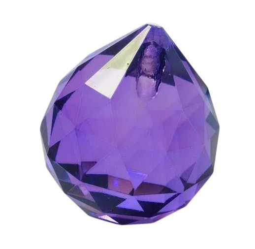 Violet Ball Chandelier Crystals Faceted Prism - ChandelierDesign