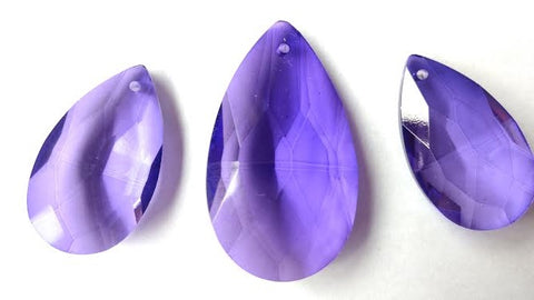 3pc violet purple chandelier crystal teardrop pendants for jewelry making