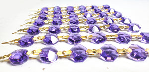 Violet Purple Chandelier Crystal Garland Yard of Prisms - ChandelierDesign