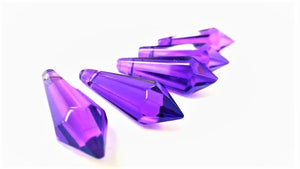 Violet Purple Icicle Chandelier Crystals, Pack of 5 Pendants - ChandelierDesign