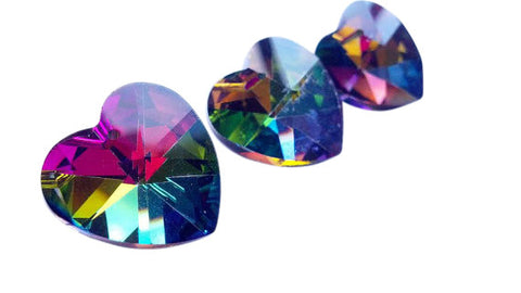 Heart Chandelier Crystals Prisms 28mm Vitrail - ChandelierDesign