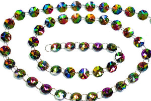 Vitrail Rainbow Yard Chandelier Crystals Garland -Silver Rings - ChandelierDesign